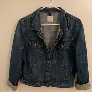J. Crew Classic Denim Jacket Jean Jacket Large